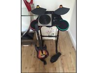Guitar and DJ hero game and accessories
