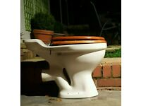TOILET PAN & SEAT (NO CISTERN)