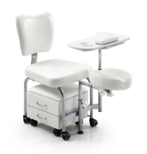 Urbanity manicure pedicure nail station beauty chair stool table spa drawers wh