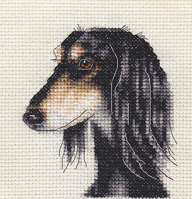 SALUKI dog, puppy ~ Full counted cross stitch kit, all materials
