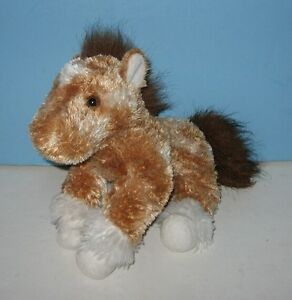 10-Aurora-Bronze-Tone-Pony-Horse-Soft-Floppy-Bean-Plush-w-Furry-Tail