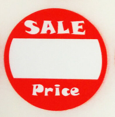 500 Self-adhesive Sale Price Round Retail Labels 1 Sticker Tags