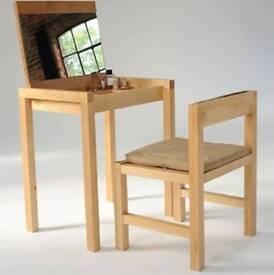 Futon company solid oak dressing table