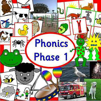 Letters and Sounds Phase 1 resource CD -phonics, literacy, EYFS/KS1, childminder
