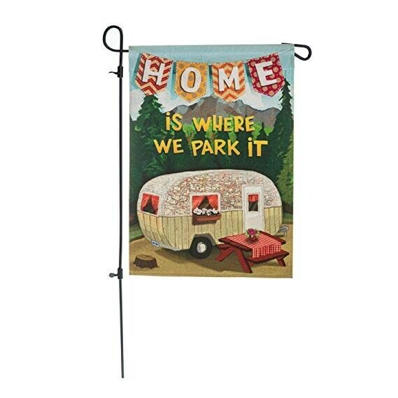 "NEW Evergreen Decorative Flag 12"" x 18"" Double sided HOME IS"