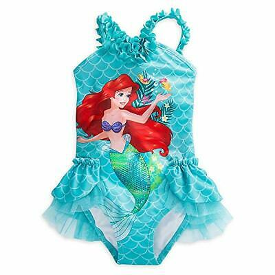NWT Disney Store Ariel Deluxe Swimsuit Little Mermaid many sizes Girls - Little Girls Clothing Store