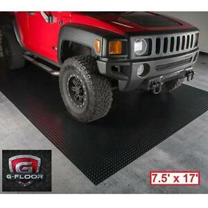 NEW* G FLOOR DIAMOND FLOOR COVER - 112115449 - 7.5' x 17' DIAMOND TREAD COMMERCIAL GRADE BLACK GARAGE FLOORING PROTECTOR