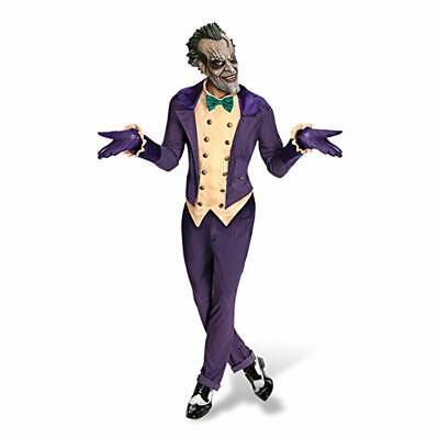 Arkham Joker Costume (The Joker Costume Arkham Franchise 4 Pc Purp Stripe Coat/Vest Pant Mask &)