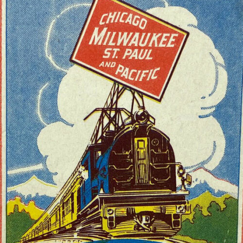 Vintage Chicago Milwaukee St Paul Pacific Electrified Railroad Gallatin Gateway