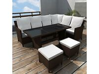 19 piece rattan garden furniture dining set - New