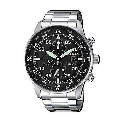 NEW Citizen Crono Aviator Men's Eco Drive Chronograph Watch - CA0690-88E