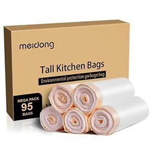 Meidong 13 Gallon Garbage Bags - 95 Bags Per Box - Only $15!