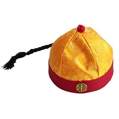 Antike Chinesisch Königsblau Kaiser Hut Rollenspiel Dekor Cosplay Hut - Gelbe König Kostüm