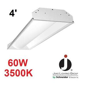 NEW* JLG 4' LED TROFFER REPLACEMENT JUNO LIGHTING GROUP 3900 LUMENS TROFFERS RECESSED LIGHTS LIGHT FIXTURES INDOOR