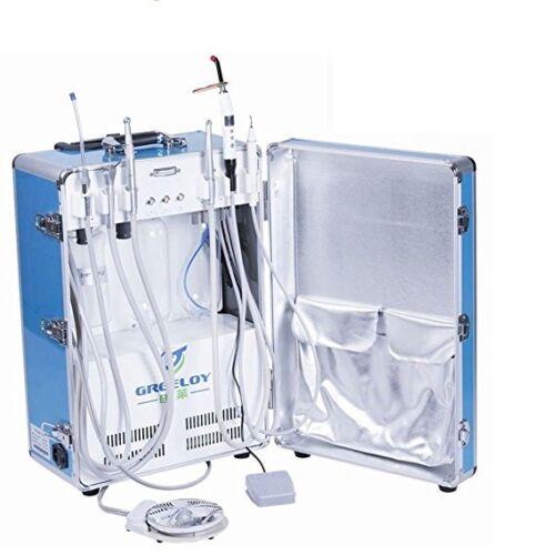 Dental Portable Unit Air Compressor 4H with Scaler+ LED Curing Light + Scaler