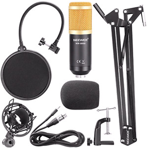 Microphone neewer 8000, scissor arm stand, popfilfer +more kit