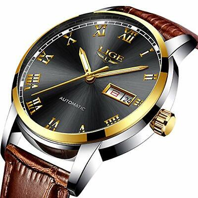 Mens Watches Waterproof Chronograph Stainless Steel Analog Quartz Luxury Watch