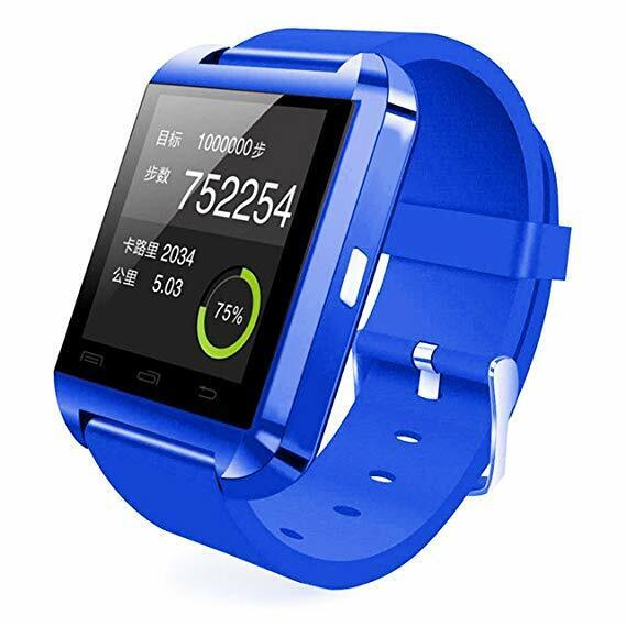 Bluetooth Smart Watch For Kids Adults With Camera Touch Screen Dark Blue Cell Phones & Accessories