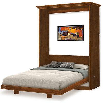 2-Panel Frame Queen Hidden Wall Bed / Murphy Woodworking Plans, 5QVWB