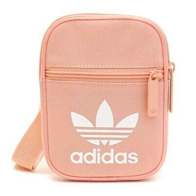 Adidas Originals Festival Mini Bag Pink White Trefoil Small Items Bag Crossbody