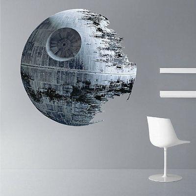 Star Wars - Death Star - Wall Sticker Mural Decal Decor - FAST USA SHIP - Star Wars Decoration