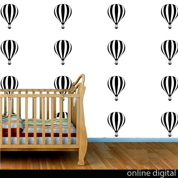 5+x+10cm+balloons+Wall+Decal+%2F+Stickers+Free+Postage+-+Choose+from+16+colours%21