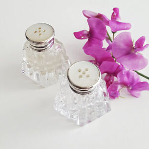 Salt and Pepper Shakers - Mother of Pearl Top West Island Greater Montréal image 1