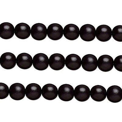 Бисер Wood Round Beads Black 12mm