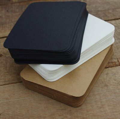 100pc White Black Brown Color Calligraphy Paper Index Memo Message Card Note Pad