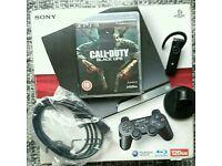 Sony PlayStation 3 Slim 500GB Black Console, HDMI, Bluetooth Headset, Black Ops, 50+ Extra Games