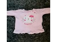 0-3 months baby girl top