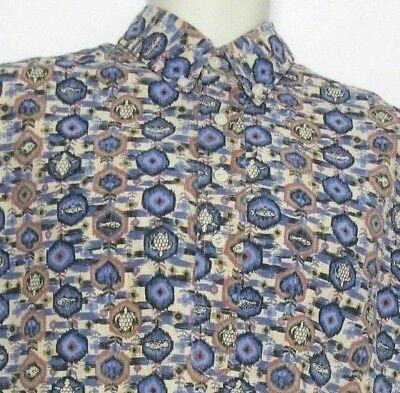 REYN SPOONER Multi-Color Fish Turtle Design Short Sleeve Men Dress Shirt Size L ()