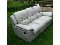 Grey 3 seater recliner £120