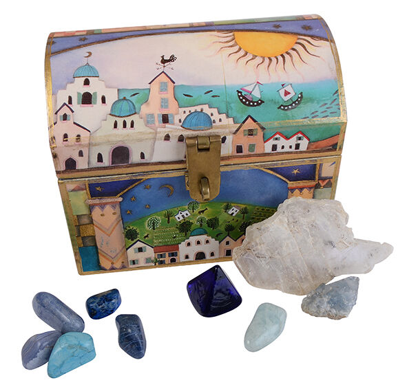 Her jewellery box will reveal the colours and gem treasures that she loves most!