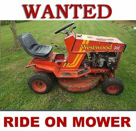 RIDE ON MOWER - SIT ON MOWER - WANTED