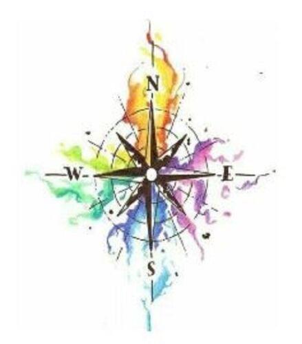 Colorful Compass Sticker
