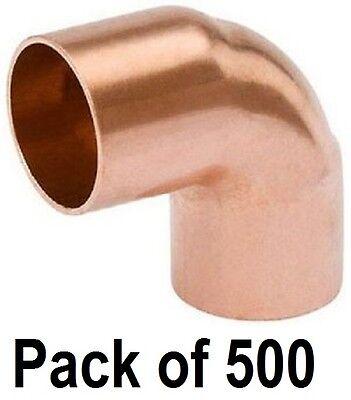 500 Ea W61622 12 Wrot Copper 90 Degree Elbow Copper X Copper Plumbing Fittings