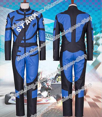 Iron Man Cosplay Tony Stark Costume Superhero Racing Uniform Jumpsuit Halloween](Tony Stark Halloween Costume)