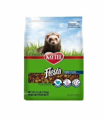 Kaytee Fiesta Gourmet Variety Diet with DHA Ferret Food, 2.5-lb (Free Shipping) ()
