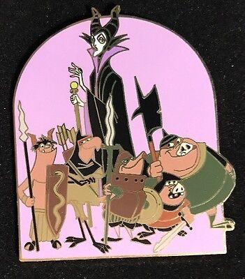 Rare Disney Auctions LE 500 Maleficent & Goons Sleeping Beauty Villain Pin MOC