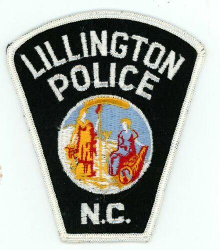 LILLINGTON POLICE NORTH CAROLINA NC OLD VINTAGE PATCH SHERIFF