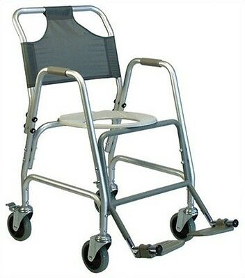 - Lumex Deluxe Aluminum Shower Transport Chair with Footrests, 5