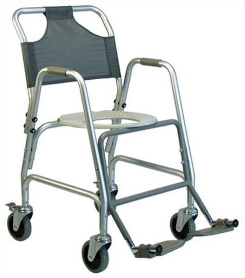 LUMEX Deluxe Aluminum Shower Transport Chair With Footres...