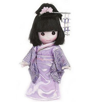 Kimono Girl Costume (PRECIOUS MOMENTS Vinyl Doll JAPANESE GIRL Costume Dress PURPLE KIMONO 9