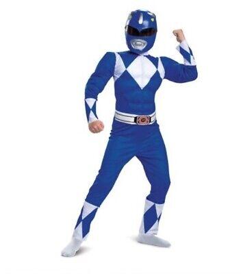 Mighty Morphin Power Rangers Blue Ranger Costume (Power Rangers Costume + Mask size 8/10 NeW Mighty Morphin BLUE Muscle)
