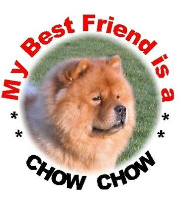 2 Chow Chow Car Stickers By Starprint