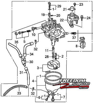 Honda Eu3000is1 Eu3000 Is 1 Generator Carburetor Type An Ac 16100-z0v-d12 New