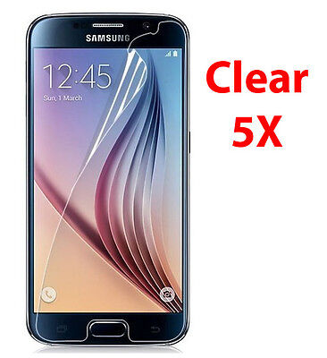 5X Crystal Clear LCD Screen Protector Cover Films for Samsung Galaxy S6
