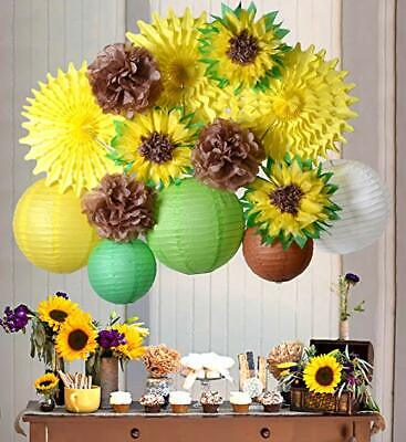 Bridal Shower Paper (PAPER JAZZ Sunflower Party Decoration kit Summer Birthday Wedding Bridal)