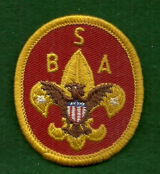 BOY SCOUT PATCH - UNIVERSAL JACKET PATCH - PLASTIC BACK